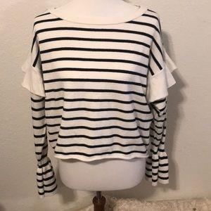 Zara Knit Soft Striped Sweater Small